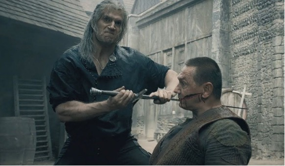Henry Cavill shows how he chopped up eight guys at once in a Witcher fight  scene | PC Gamer